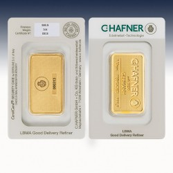 1 x 1 oz Goldbarren C.Hafner...