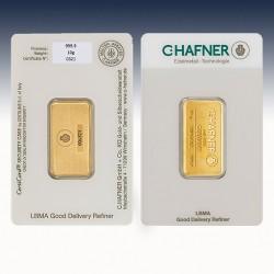 1 x 10 g Goldbarren C.Hafner...