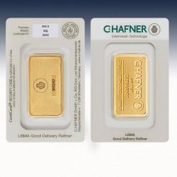 1 x 20 g Goldbarren C.Hafner...