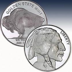 1 x 1/2 oz Silver Round Golden state...