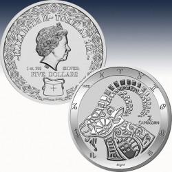 """1 x 1 Oz Silber 5$ Tokelau """"Zodiac..."""
