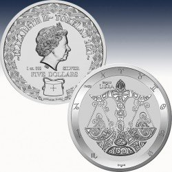 "1 oz Silbermünze 5$ Tokaleu ""Zodiac..."