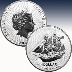 1 x 1 oz Silbermünze 1$ Cook Islands...