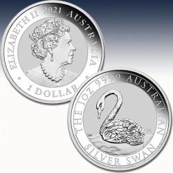 "1 x 1 $ Silbermünze Australien ""Swan..."