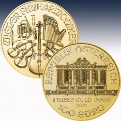1 x 1 Oz Gold 100 Euro Österrteich...