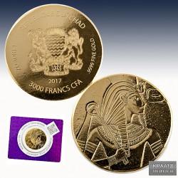 1 x 1 oz Gold 3.000 Francs Republic...