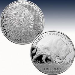 """1 x 1 Oz Silverround USA """"Liberty..."""