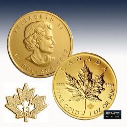 """1 x 1 Oz Goldmünze 50$ Canada """"Maple..."""