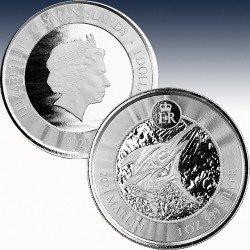 1 x 1$  Silbermünze Cayman Islands...