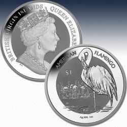 1 x 1 oz Silber 1$ British Virgin...