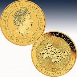 1 x 1 oz Gold 100 $ Australien...