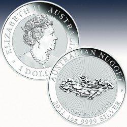 1 x 1 oz Silbermünze 1$ Australian...