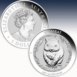 "1 x 1 Oz Silber 1$ Australien ""Wombat..."