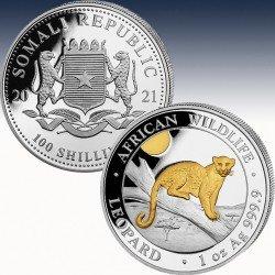 1 x 1 Oz Silber 100 SH Somalia...