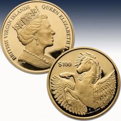 1 x 1 Oz Gold $100 British Virgin...