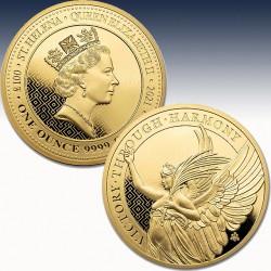 1 x 1 oz Goldmünze St. Helena £100...