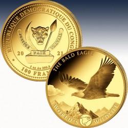 1 x 1 oz Goldmünze 100 Franc Republik...