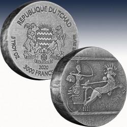 1 x 5 oz Silber 3.000 Francs Republic...