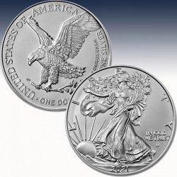 "1 x 1 oz Silbermünze 1$ USA ""American..."