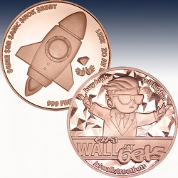 1 x 1 oz Copperround Blockchain Mint...