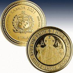 "1 x 1/5 oz Gold 5$ Tala Samoa ""The..."