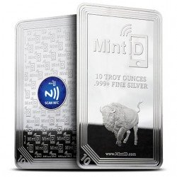 "1 x 10 oz Barren Mint ID  ""Buffalo"" -BU-"