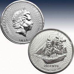 1 x 1/4 oz Silbermünze 25 Cent Cook...