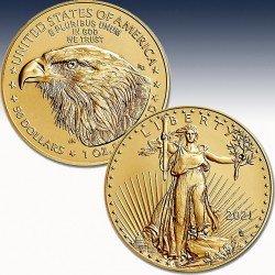 "1 x 1 oz Gold 50$ USA ""American Eagle..."