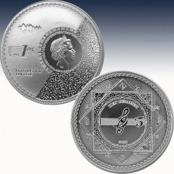 "1 x 1 oz Silber Tokelau 5$ ""Vivat..."