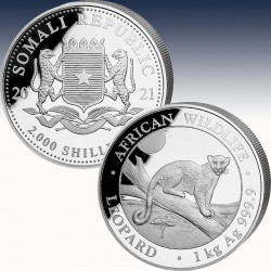 1 x 1 oz Silber 2000 Sh Somalia...