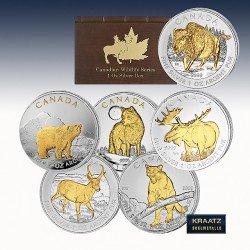 "1 x 6 x 1 Silber 30$ Canada ""Wildlife..."