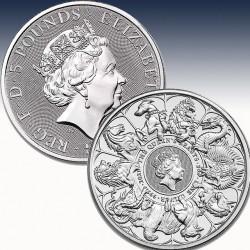 1 x 2 Oz Silber 5 Pfd Vereinigtes...