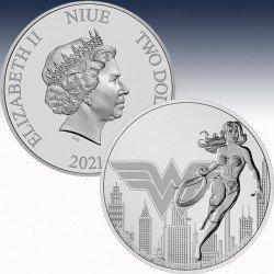 """1 x 1 Unze Silbermünze 1$ Niue """"DC..."""