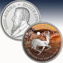 "1 x 1 oz Silber 1 Rand Südafrika ""50..."