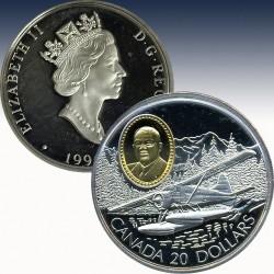"""1 x 1 oz Silber 20$ Canada """"1991..."""