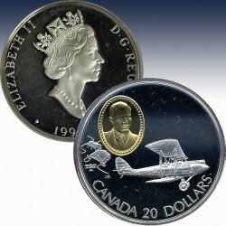 """1 x 1 oz Silber 20$ Canada """"1990..."""