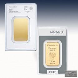 1 x 1 oz Goldbarren Heraeus (geprägt)...