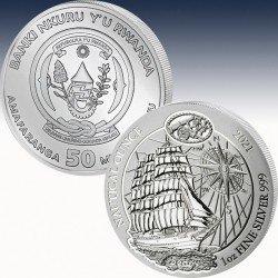 1 x 1 oz Silber 50 RWF Ruanda...