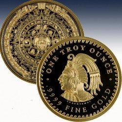 1 x 1 oz Gold Round Golden State...
