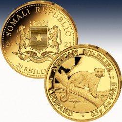 1 x 0.5 gramm Gold 20 Sh Somalia...
