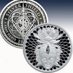 1 x 1 oz Silverround Silver Shield...