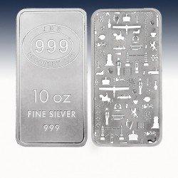 """1 x 10 oz Silver Bar """"JBR Bar """" -BU-"""