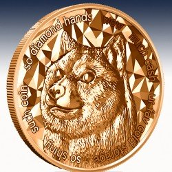 """1 x 1 Oz Copper Round """"Bitcoin..."""