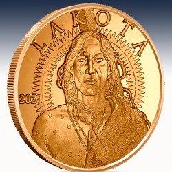 "1 x 1 oz Copper Round ""Lakota Crazy..."