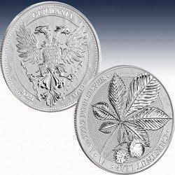 1 x 1 Oz Silver Round 5 Mark Germania...