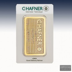 1 x 100 Gramm Goldbarren C.Hafner...