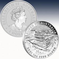 "1 x 1 Oz Silber 1$ Australien ""Super..."