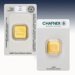 1 x 50 Gramm Goldbarren C.Hafner...