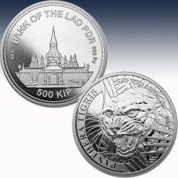 "1 x 1 Silbermünze 500 KIP ""Laos Tiger..."