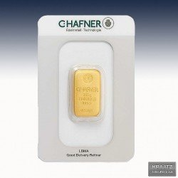 1 x 250 Gramm Goldbarren C.Hafner...